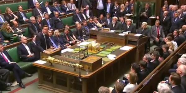 Syrie le parlement britannique rejette la motion de for Chambre des communes