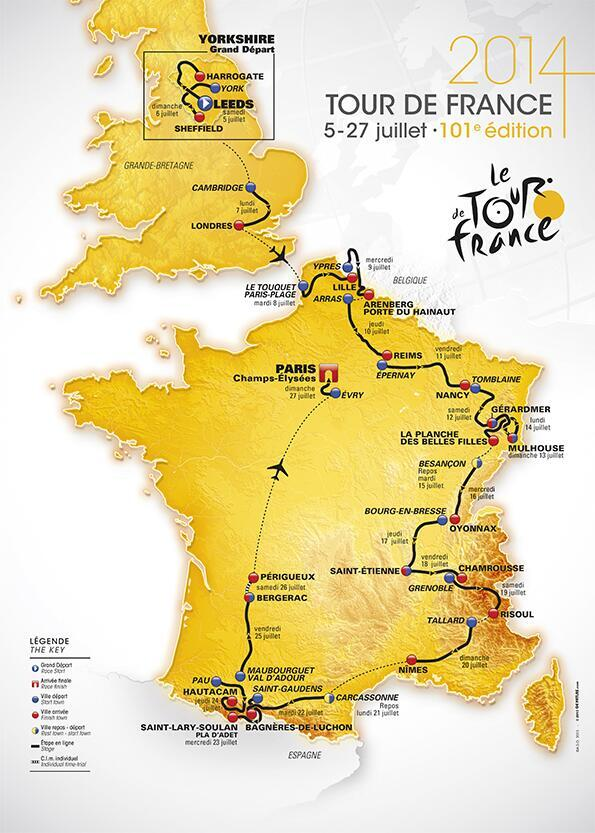 Tour de France 2014 Carte-tour-france-2014