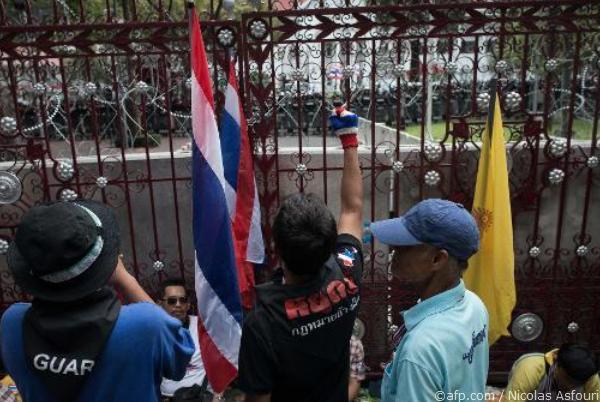 manifestants en Thaïlande