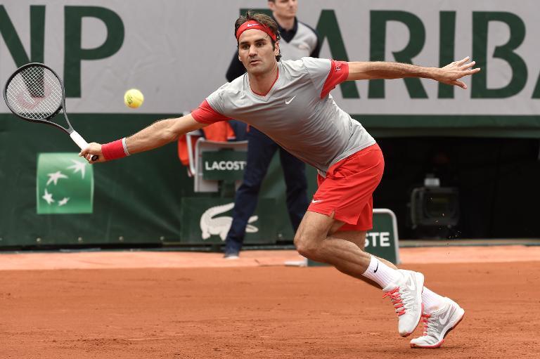 Roland-Garros: Roger Federer en p�re peinard