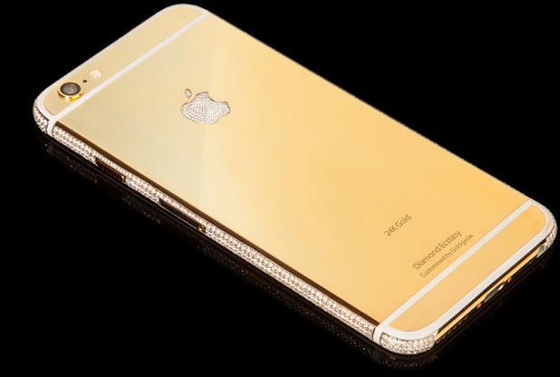 un iphone 6 en or et diamants vendu 3 5 millions de. Black Bedroom Furniture Sets. Home Design Ideas
