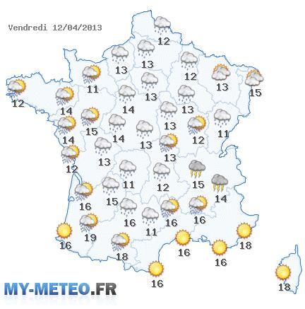 Carte France Meteo Carte Météo de France du