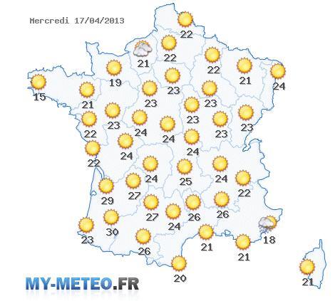 Carte France Meteo Carte Météo France du 17-04