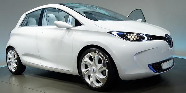 La voiture électrique Zoé de la firme Renault